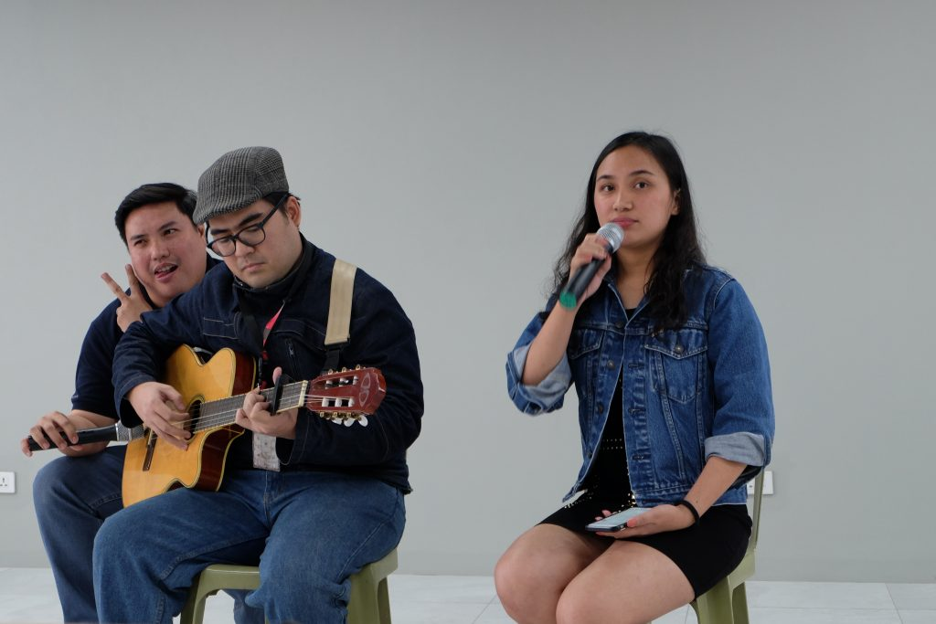 The new OP Writing team graced the Launching of FilWeb's new building and offered a song number