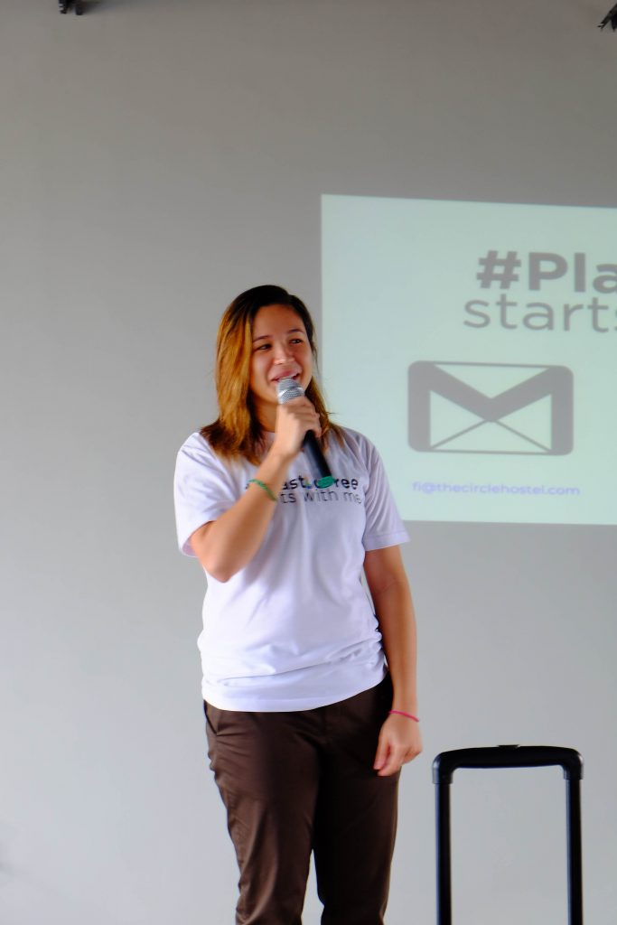 Miss Fiona Faulkner of the Plastic Solution discusses the importance of waste segregation as part of FilWeb Asia in 2018 events